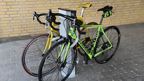 Tyverisikret cykelparkering, case Cylock